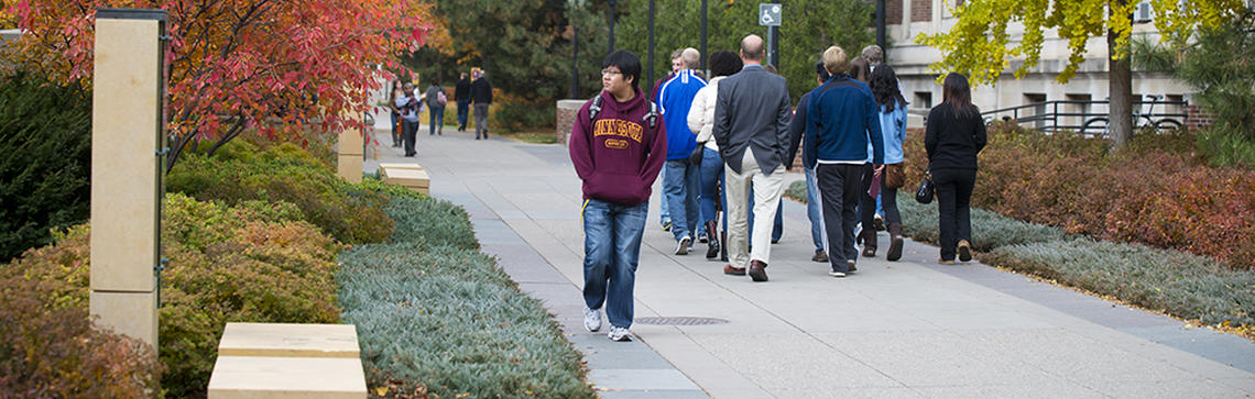 Image of scholars walk